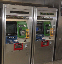 New York Subway Token Machine